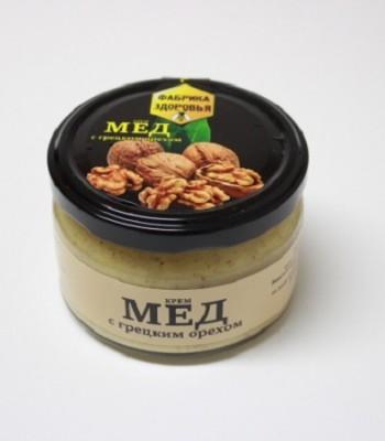 Крем-мёд с грецким орехом 300гр